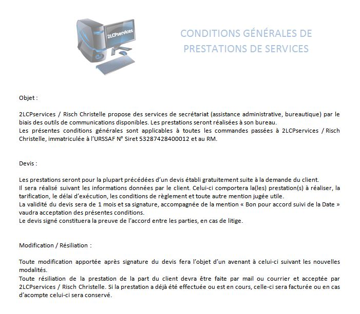Courrier mise en page Word